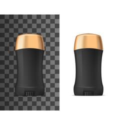 Deodorant antiperspirant black and golden mockup vector