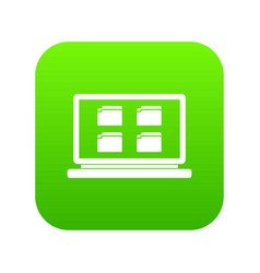 desktop icon digital green vector image