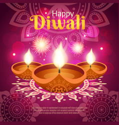 Diwali realistic vector