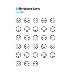 Emoticon icons vector