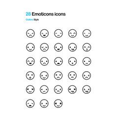 emoticon icons vector image