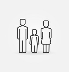 Family with one child icon vector