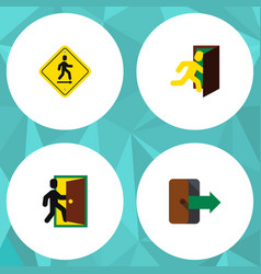 Flat icon exit set of directional direction vector