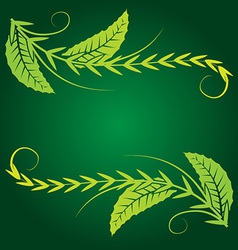 foliage corner graphics vector image