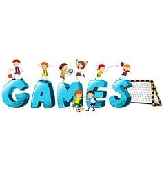 Font design for word games vector