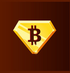 golden bitcoin logo vector image
