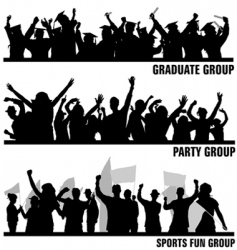 Group peoples vector