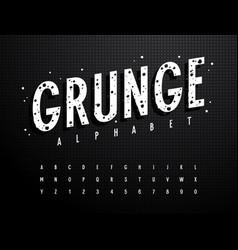 grunge alphabet 013 vector image