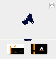 head of horse logo template and logo inspiration vector image