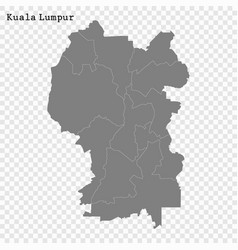 High quality map is a state malaysia vector