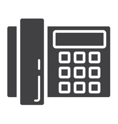 Home phone solid icon household and appliance vector