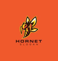 Hornet bee gaming logo design vector