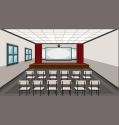 Interior of drama classroom vector