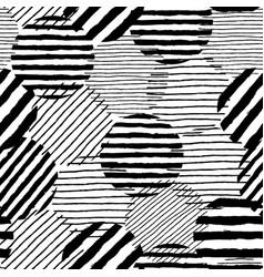 irregular dots brush strokes pattern seamless vector image
