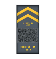 Isolated disinfection mat vector