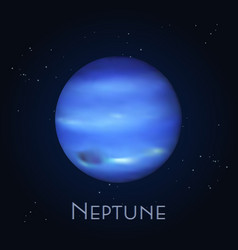 Isolated neptune farthest planet in solar system vector