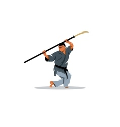 Kobudo japanese martial arts sign vector