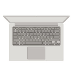 laptop front vector image