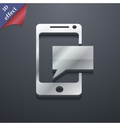 Mail icon symbol 3D style Trendy modern design vector