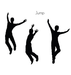 Man in jump pose on white background vector