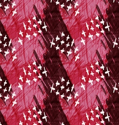 Marker hatched red with crosses vector