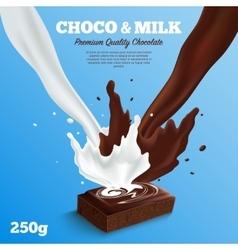Milk Chocolate Background vector
