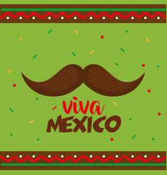 Mustache viva mexico poster vector