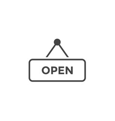 open sign graphic design template vector image