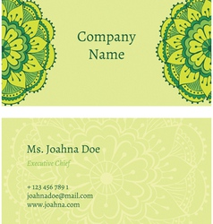 Oriental business card vector