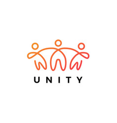 people human together family unity logo icon vector image