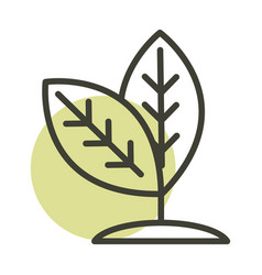 Plant leaves nature alternative sustainable energy vector