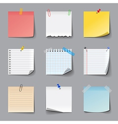 Post it notes icons set vector image