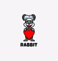 Rabbit design logo animal mascot cartoon vector