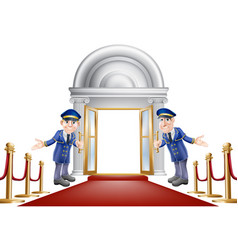 Red carpet entrance vector