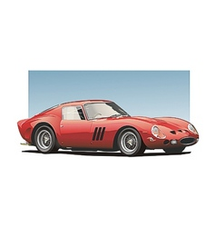 Red sportscar vector