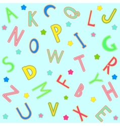 seamless background with alphabet vector image