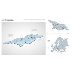 Set georgia country isometric 3d map georgia vector