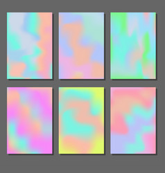 Set of holographic backgrounds vector
