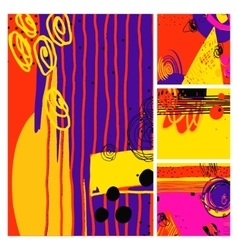 Set of modern abstract contemporary painting vector