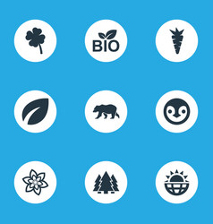 Set of simple ecology icons vector