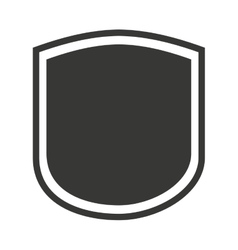 shield seal frame icon vector image