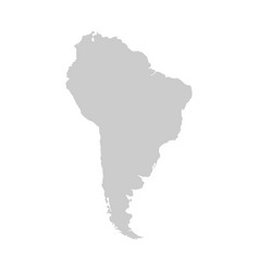 south america continent gray template vector image