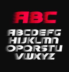 Sport font alphabet bold italics letters vector