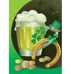 St Patricks Green Beer vector image