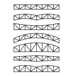 steel metal trusses vector image