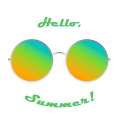 summer sunglasses picture shows the pleasure of vector image