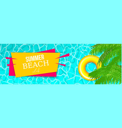summer water pool waves poster vector image