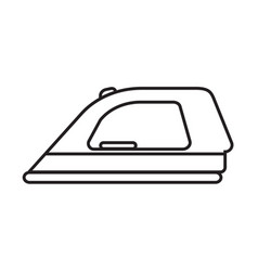 Thin line ironing icon vector