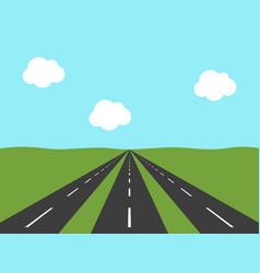 Three roads perspective view vector