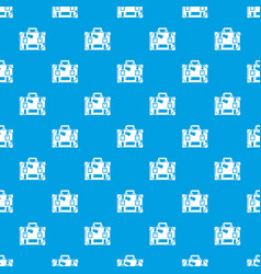 travel suitcase pattern seamless blue vector image